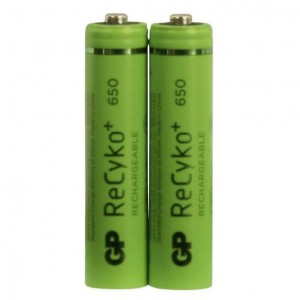 GP Recyko+ Panasonic Motorola Alcatel Vtech Cordless DECT Phone Rechargeable Battery (AAA) 650mAh (2-PACK)