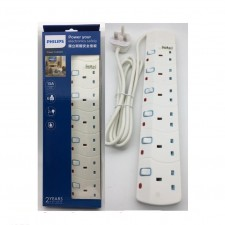 Philips SIRIM Approved 3/4/5/6 Gang Extension Socket Power Strips 2M Heavy Duty - WHITE