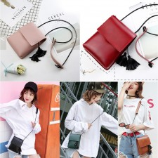 Korean Style Tassel Portable Phone / Cards Sling Bag