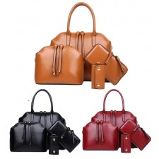 4 In 1 Set Premium Leather Bag