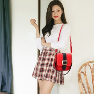 Korean Design Square Belt 2 Way Sling Bag