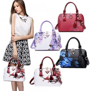 Trendy Flower Saffiano Effect Crossbody Faux Leather Small Handbag