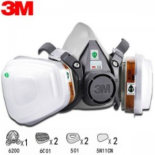 3M 6200 RESPIRATOR + 6001 CARTRIDGE + 501 COVER + 5N11 FILTER N95