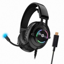 HP H360GS 7.1 Virtual Surround USB2.0 Gaming Headphone Gaming Headset Microphone Led Light, Skin Friendly 50mm Speaker
