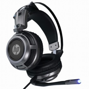 HP H200S Virtual Surround Sound Gaming Headphone Gaming Headset With Microphone Led Light, Skin Friendly 50mm Speaker
