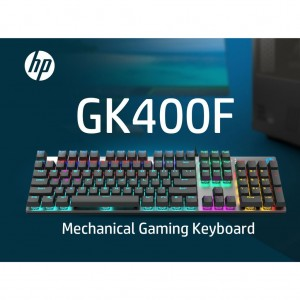 HP GK400F Mechanical Stylish Wired Gaming Keyboard WITH BLUE SWITCH ANTI RUST & SCRATCH AND METAL FRAME