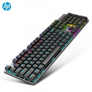 HP GK100 Mechanical Keyboard Wired Backlight Gaming Keyboard Adjustable LED Light Backlit Black Blue Red Brown Switch
