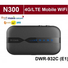 D-LINK Dlink DWR-932C (E1) 4G LTE Wireless Hotspot WiFi Portable Mobile MiFi Modem Router For UniFi Air / DiGi