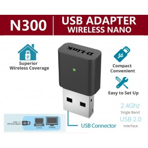 D-LINK DLINK DWA131 Wireless N 300mbps USB Mini WiFi Adapter DWA-131. DLINK DWA131 DWA121 727N 725N T3U