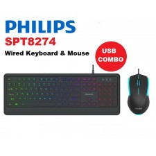 PHILIPS SPT8274 - Wired USB Keyboard & Mouse Combo Set - 1200dpi