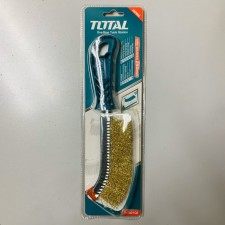 "TOTAL HEAVY DUTY WIRE BRASS BRUSH 10""-250MM"