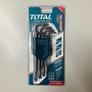 TOTAL HEAVY DUTY TORX ALLEN KEY SET - 9PCS