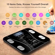 Bluetooth Rechargeable Scale Measure Body Fat Weight for Android iPhone