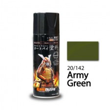 SAMURAI METALLIC SPRAY PAINT - ARMY GREEN 20/142 (400ML)