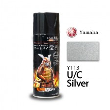 SAMURAI METALLIC SPRAY PAINT- U/C SILVER (Y113) 400ML