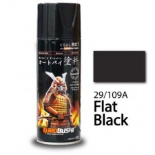 SAMURAI METALLIC SPRAY PAINT - FLAT BLACK 29/109A (400ML)