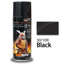 SAMURAI METALLIC SPRAY PAINT - BLACK 30/109 (400ML)