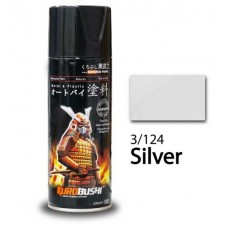SAMURAI METALLIC SPRAY PAINT - SILVER 3/124 (400ML)