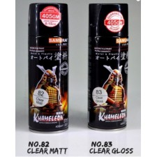 SAMURAI METALLIC SPRAY PAINT CLEAR SERIES (400ML) CLEAR MATT / CLEAR GLOSS (ANCHOR / AIKKA GRADE)