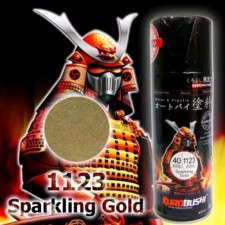 SAMURAI METALLIC SPRAY PAINT - SPARKLING GOLD (40) 400ML