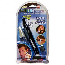 New MicroTouch Multipurpose Facial Hair Trimmer With Light Black